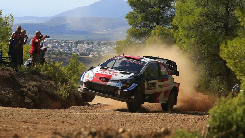 Pēc Grieķijas WRC rallija pirmās dienas Top 3 pilotus šķir četras sekundes
